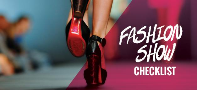 Workplace Rights for Models Fashion Show Checklist Banner